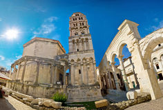 Site de patrimoine mondial de l'UNESCO dans la fente Photographie stock