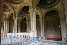 Site de patrimoine mondial de l'UNESCO, résidence de la métropolitaine de Bukovinian images stock
