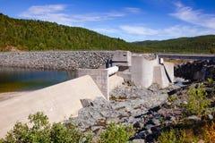 Site de réglementation d'héritage de l'UNESCO de barrage de réservoir de Mosvatn de lac télé- photo libre de droits