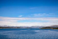 Site de réglementation Telemar d'héritage de l'UNESCO de réservoir de Mosvatn de lac photos stock