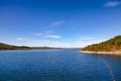 Site de réglementation Telemar d'héritage de l'UNESCO de réservoir de Mosvatn de lac images libres de droits
