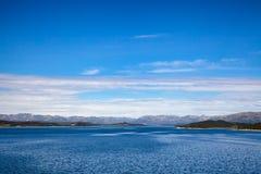 Site de réglementation Telemar d'héritage de l'UNESCO de reservior de Mosvatn de lac images libres de droits