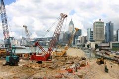 Site de remplissage de cordon - île de Hong Kong Photo libre de droits
