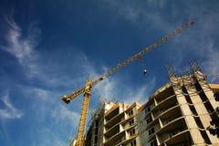 Site de travaux de construction Photo stock