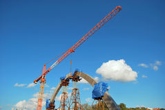Site de travaux de construction Image stock