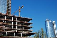 Site de travaux de construction Images libres de droits