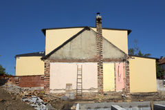 Site demolished house Stock Photography