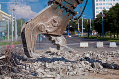 Site Demolition Stock Image