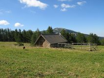 Site der Hütten von noncières, Frankreich Lizenzfreie Stockfotografie