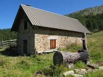 Site der Hütten von noncières, Frankreich Lizenzfreies Stockbild