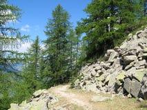 Site der Hütten von noncières, Frankreich Lizenzfreie Stockbilder