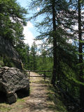 Site der Hütten von noncières, Frankreich Lizenzfreie Stockfotos