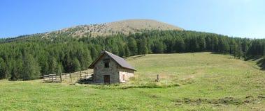 Site der Hütten von noncières, Frankreich Stockfotografie