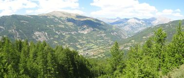 Site der Hütten von noncières, Frankreich Lizenzfreies Stockfoto