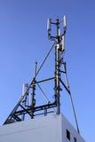 site des cellules 4G, tour hertzienne de télécom ou station de base de téléphone portable Image stock