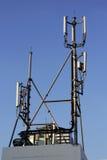 site des cellules 4G, tour hertzienne ou station de base de téléphone portable Photographie stock libre de droits