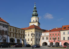 Site des Kromeriz UNESCO-Erbes, Rathausplatz, tschechisch bezüglich Stockfotos