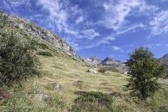 Site des Schutz von Carro, Frankreich Stockbilder