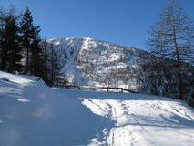 Site des Sees von allos, Frankreich Lizenzfreies Stockbild