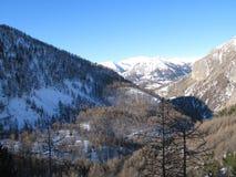 Site des Sees von allos, Frankreich Lizenzfreies Stockfoto