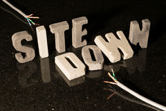 Site down text when website is unavailable Stock Image