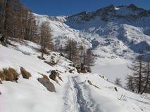 Site du lac des allos, France Image stock