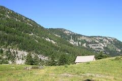 Site du plateau et les lacs de la lignine, France Image stock