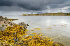Site of Dunscaith Castle Royalty Free Stock Photography
