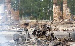 Site eines Feuers Stockfotografie