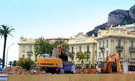 Site en construction à Monte Carlo Photos libres de droits