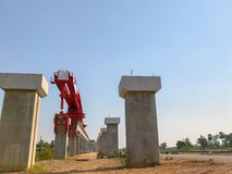Site en construction de pont extérieur Photo libre de droits