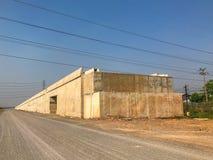 Site en construction de pont extérieur Photo stock