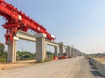 Site en construction de pont extérieur Image stock