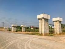 Site en construction de pont extérieur Photographie stock libre de droits