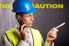 Site engineer Royalty Free Stock Photography