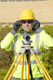 Site Engineer at work Stock Photography