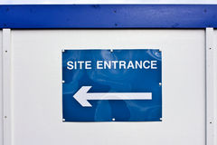 Site entrance sign Stock Image
