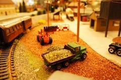 Site et chemin de fer de Miniatural Images libres de droits
