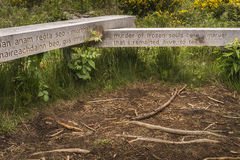Site of Execution at Culloden, Scotland. Site of Execution at Culloden moor near Inverness in Scotland Royalty Free Stock Photography