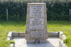 Site of First WW II American Cemetery in France, Omaha Beach Stock Photos