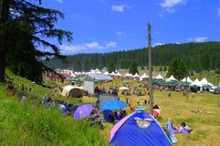 Site folklorique national de festival de Rozhen, Bulgarie Images stock
