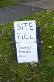 Site Full Notice Stock Photo