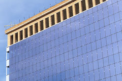 Site glazed buildings mirrored wall Royalty Free Stock Image