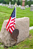 Site grave de vétéran Image stock