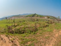 Old foxhole from Vietnam war. Xiangkhoang Plateau, Laos royalty free stock photography