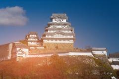 Site historique de Japonais de château de Himeji Image libre de droits