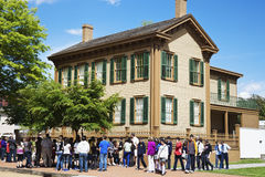 Site historique national à la maison de Lincoln à Springfield Photographie stock
