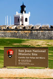 Site historique national de San Juan - EL Morro Photo libre de droits