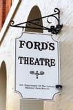 Site historique national du théâtre de Ford photographie stock