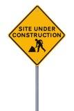 Site im Bau (auf Weiß) Stockbild
